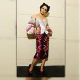 Kangana Ranaut - Subtle stripes, bold prints and a snazzy hairdo