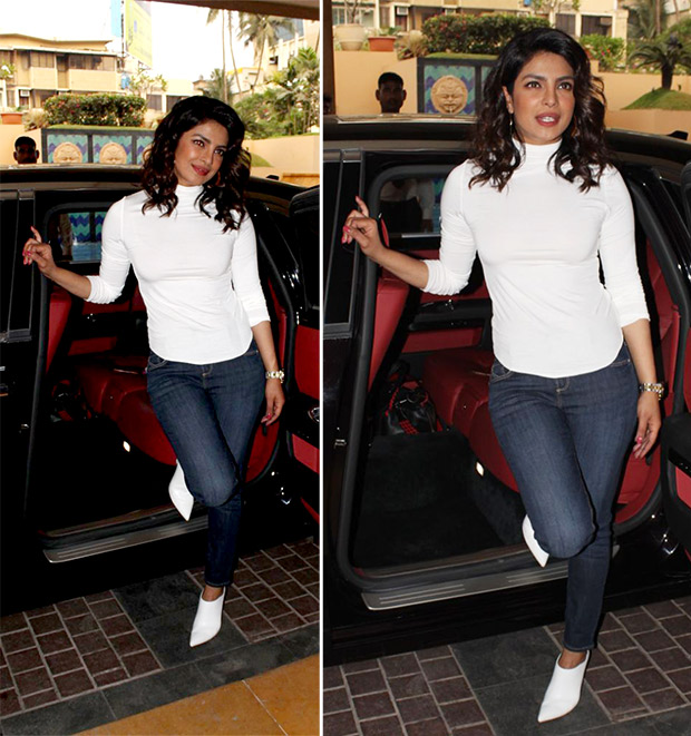 Priyanka Chopra sleek in an all-white look