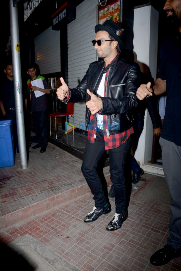 Ranveer Singh snapped outside Bastian in Bandra