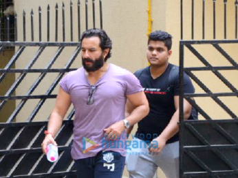 Saif Ali Khan spotted after his gym session in Bandra