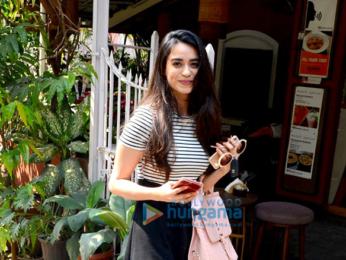 Soundarya Sharma spotted outside a cafe in Bandra