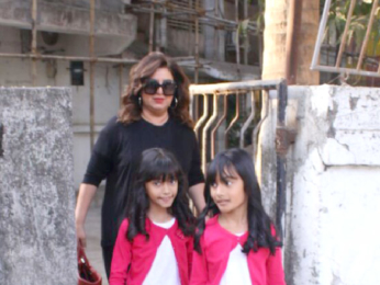 Shweta Nanda and Farah Khan snapped outside Kromakay salon in Juhu