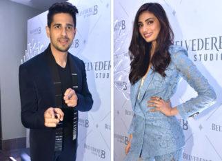 Sidharth Malhotra and Athiya Shetty at Belvedere Studio B launch
