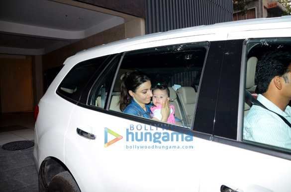 Soha Ali Khan spotted with her daughter in Bandra