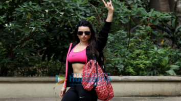 Soundarya Sharma snapped near her residence
