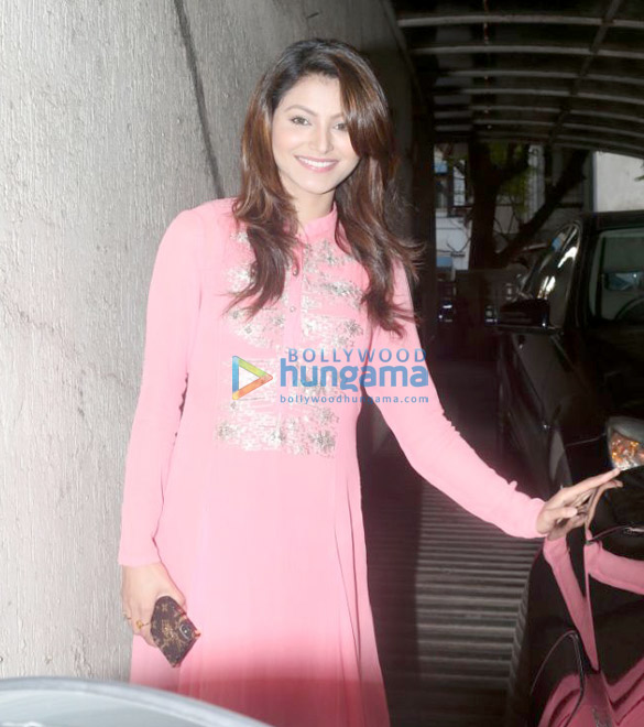 Urvashi Rautela spotted at Sanjay Dutt's office