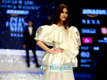 Vaani Kapoor snapped walking the ramp for Gauri Nainika at the Amazon Fashion Week