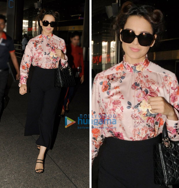 Weekly Airport Style: Kangana Ranaut goes floral chic