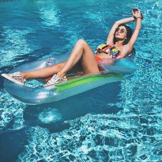 HOTNESS Amy Jackson is giving us major Coachella vibes sunbathing in a bikini