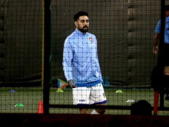 Abhishek Bachchan spotted playing football in Juhu near PVR