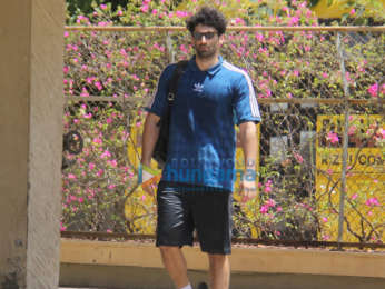 Aditya Roy Kapur spotted at Bandra