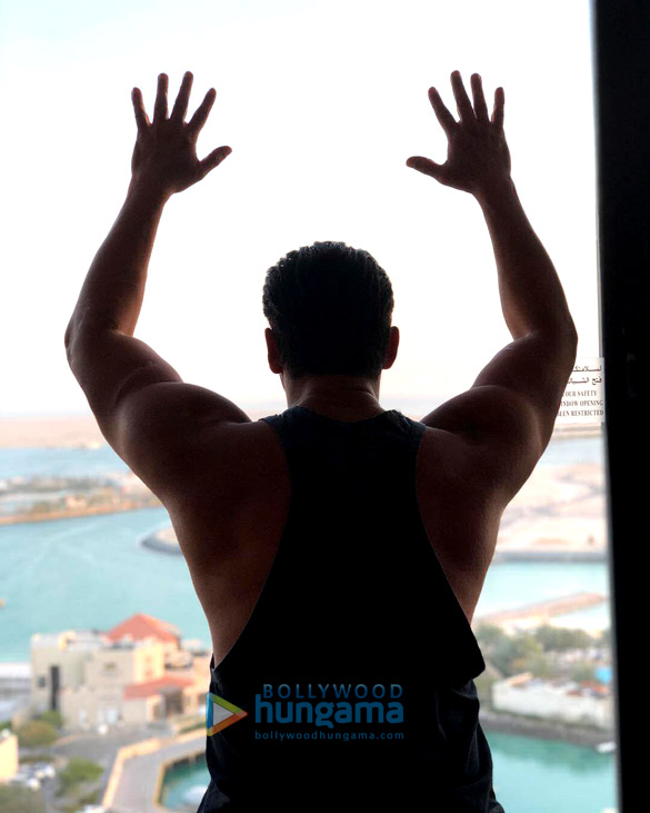 RACE 3: All flexed and sizzling hot, Salman Khan teases us with a new click (see picture)