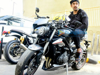 Amit Sadh snapped riding his super bike