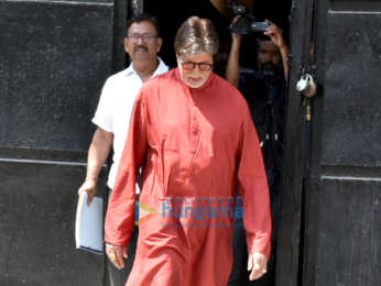 Amitabh Bachchan spotted during a photo Shoot for Kalyan Jewellers