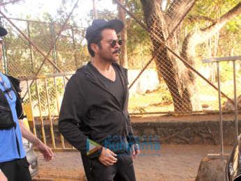 Anil Kapoor and Esha Gupta spotted in Juhu