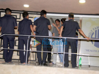 Arjun Rampal with wife Mehr at Holy Family Hospital, Bandra
