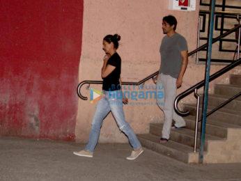 Arjun Rampal with wife Mehr at Holy Family Hospital, Bandra