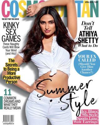 Athiya Shetty on Cosmopolitan for April 2018