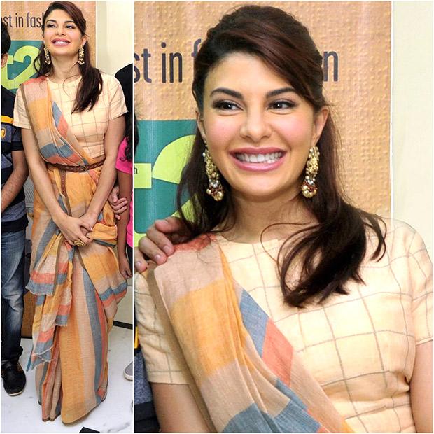 Belted Sari Muse - Jacqueline Fernandez
