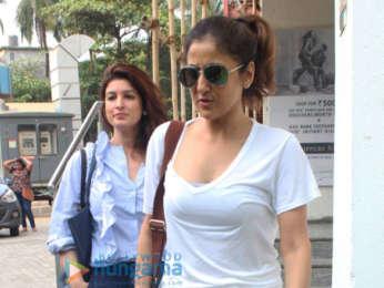 Bhumi Pednekar, Twinkle Khanna and director Shekhar Kapur snapped at PVR Juhu