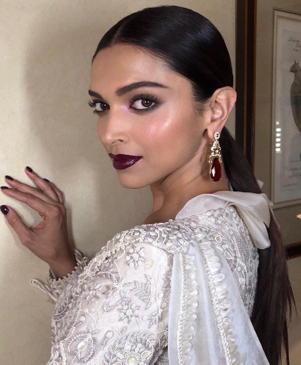 Deepika Padukone flaunts a slick hairdo and intense makeup