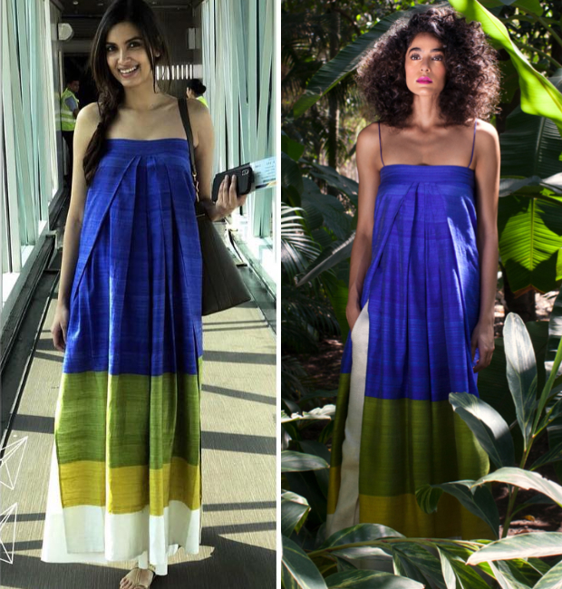 Diana Penty in Payal Khandwala maxi dress from Spring Summer 2018 collection