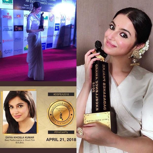 Divya Khosla Kumar receives Dadasaheb Phalke Excellence Award