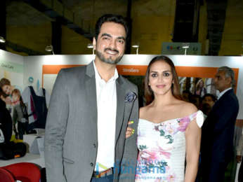 Esha Deol and Bharat Takhtani attend the inaugural ceremony of Children, Baby and Maternity Expo