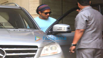 Farhan Akhtar snapped at a dubbing studio