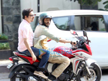 Harshvardhan Kapoor spotted on a shoot in Juhu