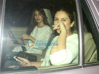 Huma Qureshi and Rhea Chakraborty spotted in Bandra