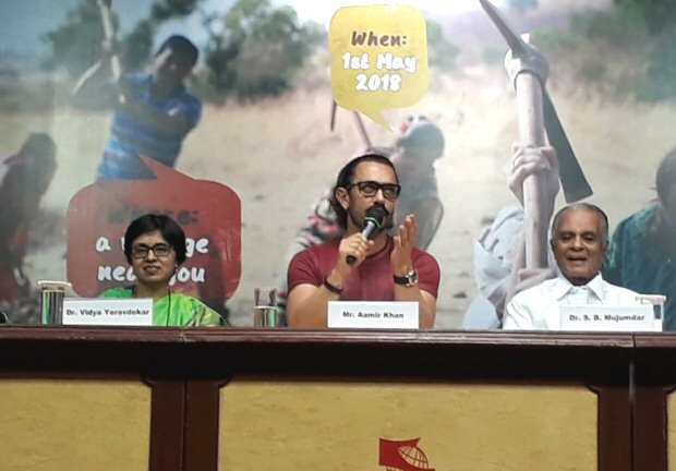 """""""I'm hoping that you won't need Paani Foundation in 5 years"""": Aamir Khan"""