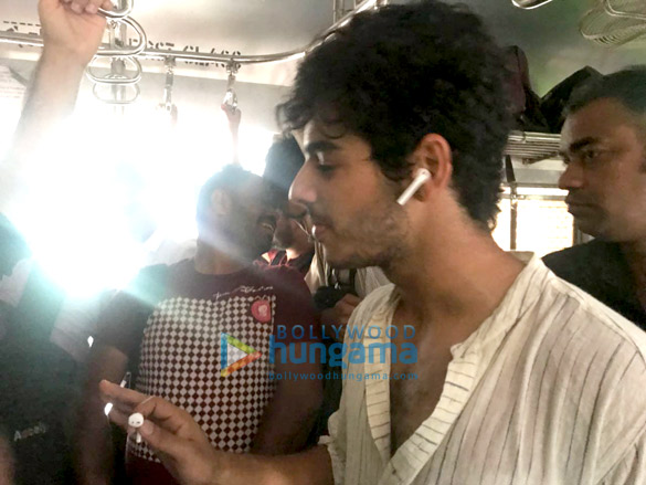 Ishaan Khattar snapped promoting Beyond the Clouds in a local train