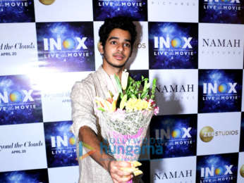 Ishaan Khatter, Malavika Mohanan and Majid Majidi promote their film Beyond The Clouds at INOX Atria Mall