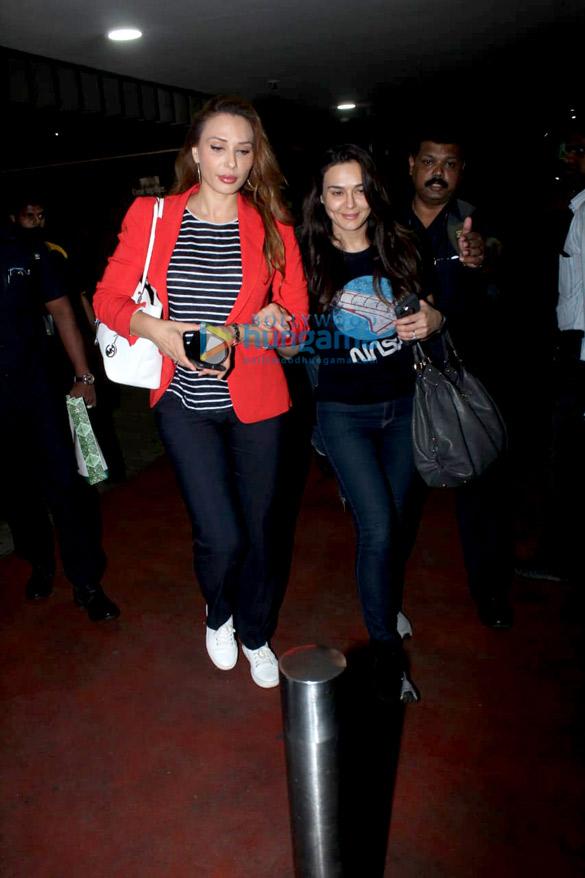 Iulia Vantur and Preity Zinta snapped at the airport