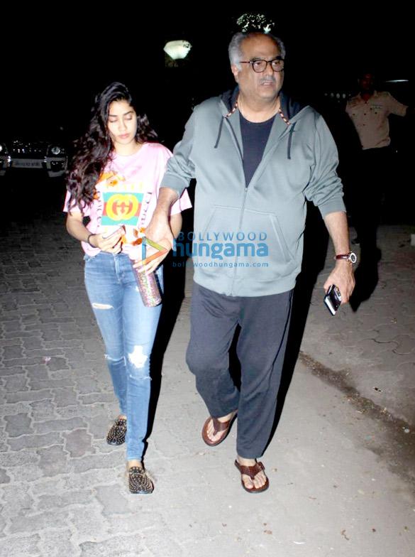 Janhvi Kapoor and Boney Kapoor spotted at Arjun Kapoor's House