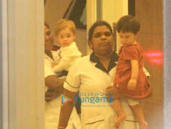 Karan Johar spotted with his kids Yash Johar and Roohi Johar in Bandra