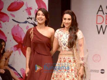 Karisma Kapoor walks the ramp for designer Priya Rout at the Asian Designer Week in New Delhi