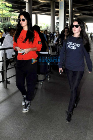 Katrina Kaif and sister Isabel Kaif snapped at the airport returning from London