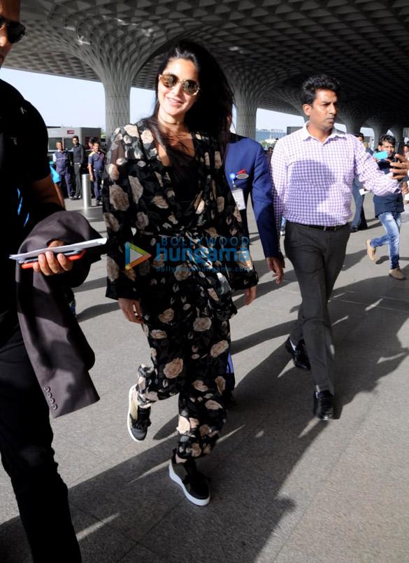 Katrina Kaif snapped at the airport while heading to Delhi