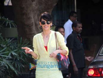 Mandana Karimi spotted at Otters Club in Bandra