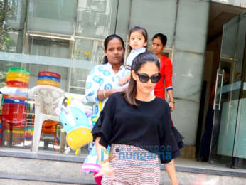 Mira Rajput spotted with daughter Misha Kapoor at a playschool in Bandra