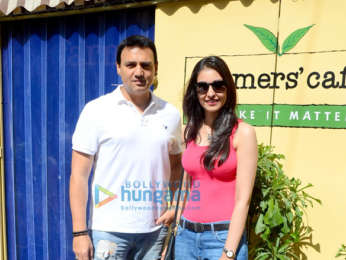 Navneet Kaur and Mark Robinson spotted at Farmers' Cafe in Bandra