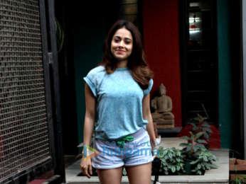 Nushrat Bharucha spotted at V/S salon in Juhu