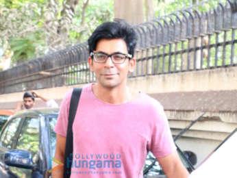 Preeti Simoes and Sunil Grover snapped in Juhu