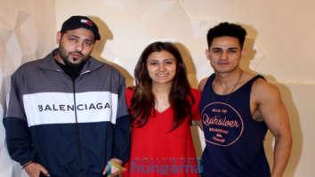 Priyank Sharma, Astha Gill and Badshah snapped promoting their song
