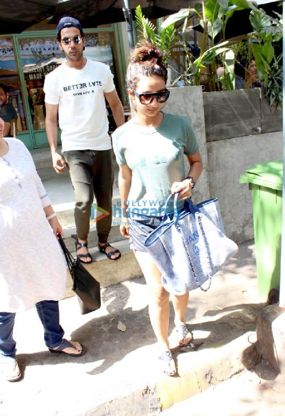 Rajkummar Rao and Patralekha spotted at The Kitchen Garden in Bandra