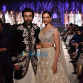 Ranbir Kapoor and Deepika Padukone walk the ramp for Mijwan