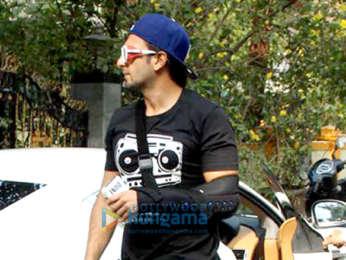 Ranveer Singh spotted at a salon