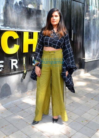 Richa Chadda and Rahul Bhatt promote their film Daas Dev in Bandra